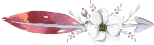 Pink Feathered Arrow with Dogwood flower bouquet